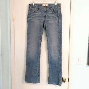 Hollister Light Wash Mid Rise Bootcut Jeans 13 jrs